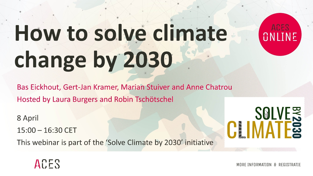 How to solve climate change by 2030 flyer
